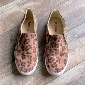 Restricted Leopard Print Sneakers